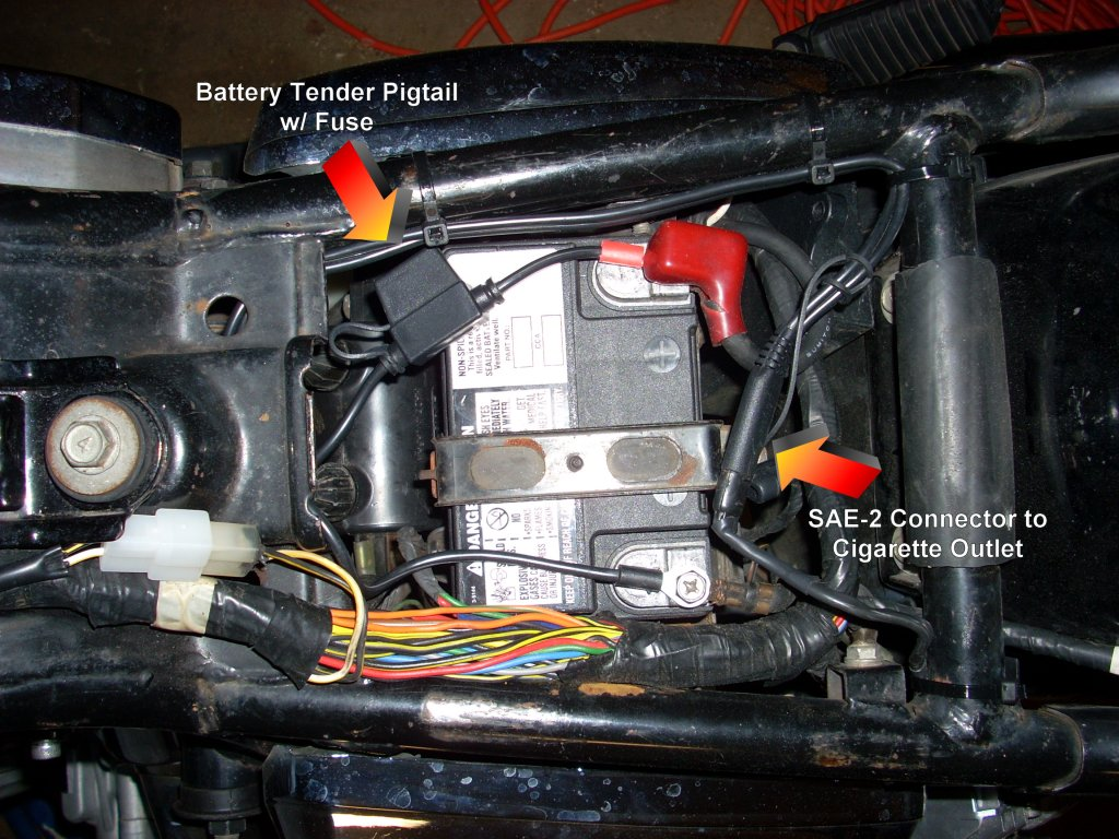 How To Wire a GPS & Cigarette Outlet (*LARGE PHOTOS*) - Kawasaki Vulcan 750  Forum : Kawasaki VN750 Forums